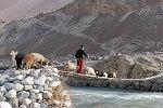 Brücke in Basid über den Bartang-Fluss